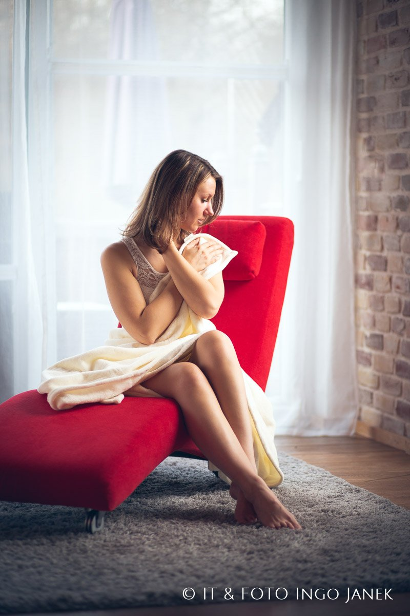 boudoir shooting am fenster